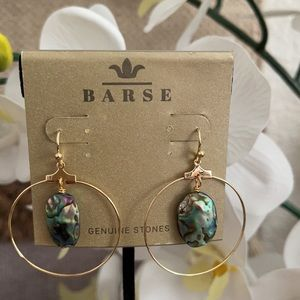 🆕 Earrings from BARSE ABALONE Shell Gold tone